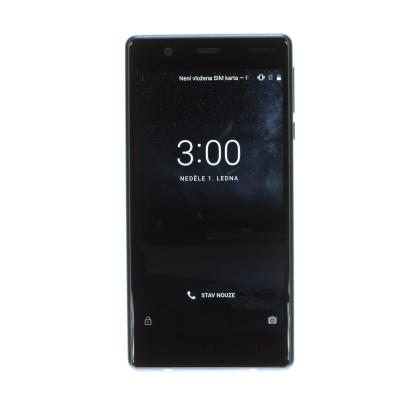 "Nokia 3 (5"", 16GB, Dual SIM, 8MP, Tempered Blue)"