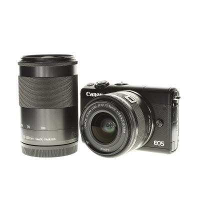 Canon EOS M100 Doublezoom Kit (15 - 45 mm, 24.20MP, 6FPS, WiFi)