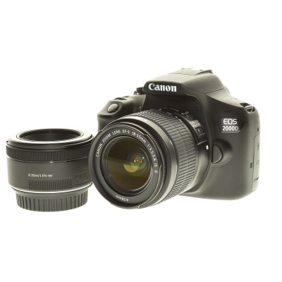 Canon EOS 2000D Double Lens Kit (18-55mm, 24.10Mpx, APS-C / DX)
