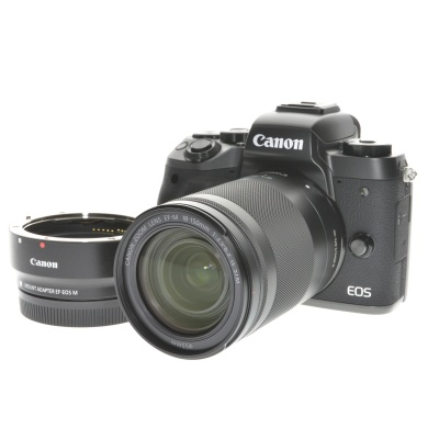 Canon EOS M5, 18-150mm (24.20MP, 7FPS, Wi-Fi)
