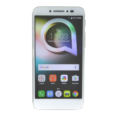 "Alcatel Shine Lite (5"", 16GB, Dual SIM, 13MP, Pure White)"