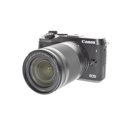 Canon EOS M6, 18-150mm Kit Schwarz (24.20MP, 7FPS, WLAN)