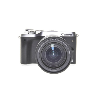Canon EOS M6 18-150mm Kit Silber (24.20MP, 7FPS, Wi-Fi)